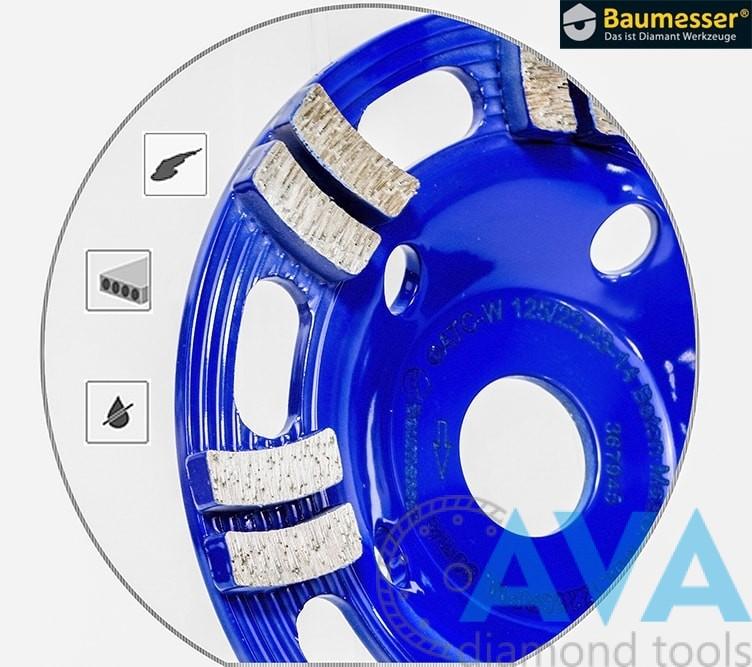 Алмазная шлифовальная фреза Baumesser Beton Master 125 мм - 1