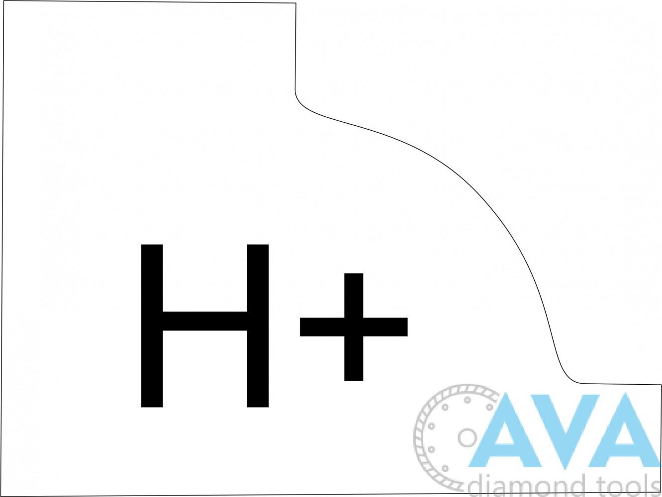 """Фреза профильная. Профиль """"H+"""". - 1"""